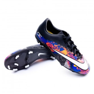 Boot  Nike Jr Mercurial Victory V CR FG Black-White-Total crimson-Purple