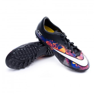 Bota  Nike Jr Mercurial Victory V CR TF Black-White-Total crimson-Purple
