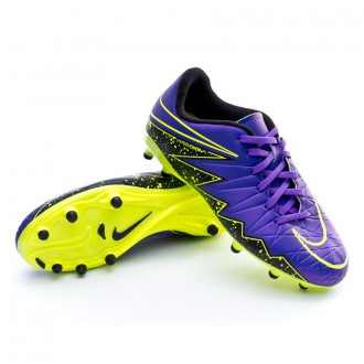 Bota  Nike Jr HyperVenom Phelon II FG Hyper grape-Black-Volt