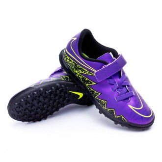 Bota  Nike Jr HyperVenom Phade II Velcro TF Hyper grape-Black-Volt