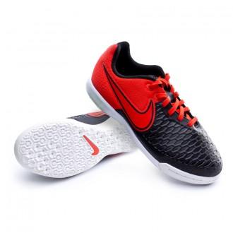 Zapatilla  Nike Jr MagistaX Pro IC Black-Challenge red-White