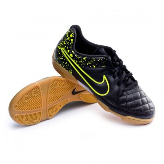 Boot  Nike Jr Tiempo Rio II IC Black-Volt