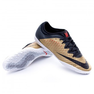 Chaussure  Nike MercurialX Finale IC Metallic gold-Black-Challenge red-White