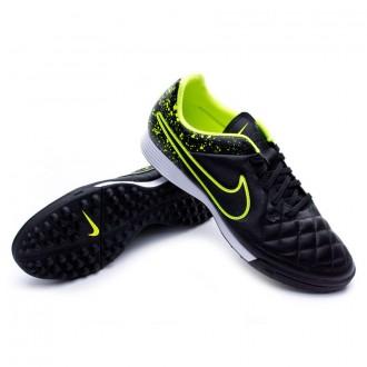 Chuteira  Nike Tiempo Genio Piel Turf Black-Volt