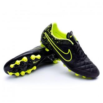 Chuteira  Nike Tiempo Genio Piel AG-R Black-Volt