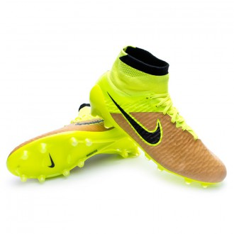 Boot  Nike Magista Obra ACC Tech Craft Piel FG Canvas-Black-Volt
