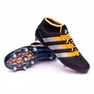 Boot  adidas Ace 16+ Primeknit FG/AG Core black-Silver metallic-Solar gold