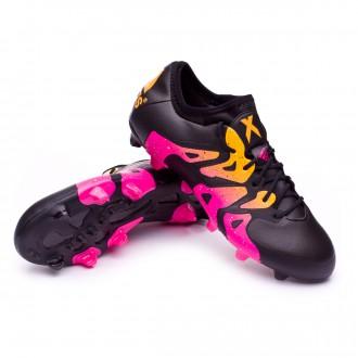 Bota  adidas X 15.1 FG/AG Core black-Shock pink-Solar gold