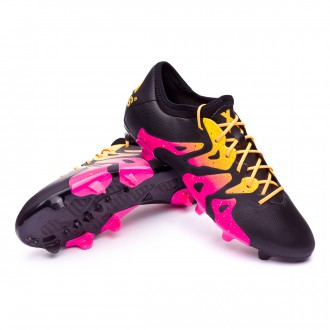 Boot  adidas X 15.2 FG/AG Core black-Shock pink-Solar gold