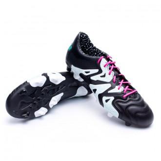 Bota  adidas X 15.1 FG/AG Piel Core black-Shock mint-White