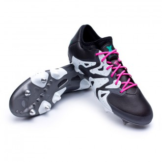 Chuteira  adidas X 15.1 SG Core black-Shock mint-White