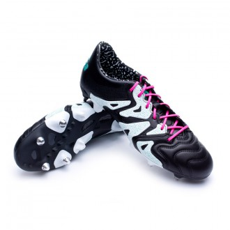 Chuteira  adidas X 15.1 SG Pele Core black-Shock mint-White