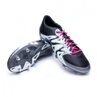Chuteira  adidas X 15.3 SG Core black-Shock mint-White