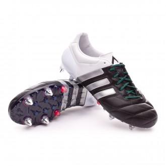 Boot  adidas Ace 15.1 SG Piel Core black-Matte silver-White