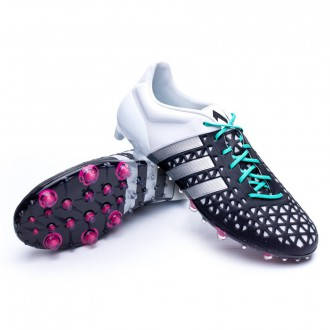 Boot  adidas Ace 15.1 FG/AG Core black-Matte silver-White