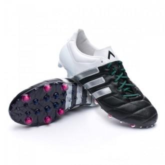 Boot  adidas Ace 15.1 FG/AG Piel Core black-Matte silver-White