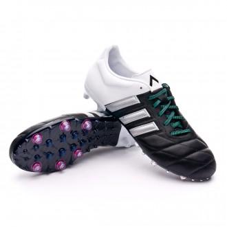 Bota  adidas Ace 15.2 FG/AG Piel Core black-Matte silver-White