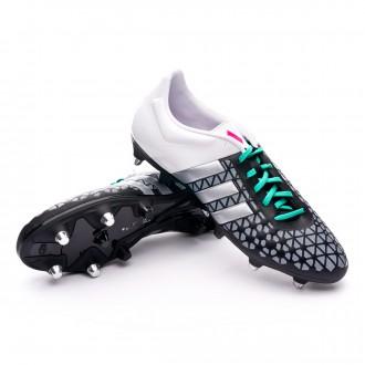 Bota  adidas Ace 15.3 SG Core black-Matte silver-White