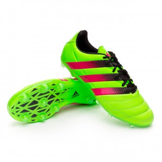 Chaussure  adidas Ace 16.2 FG/AG Cuir Solar green-Shock pink-Core black