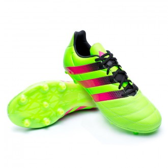 Chaussure  adidas Ace 16.3 FG/AG Cuir Solar green-Shock pink-Core black