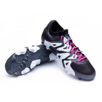 Bota  adidas Jr X 15.1 FG/AG Core black-Shock mint-White