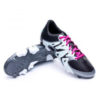 Bota  adidas Jr X 15.3 FG/AG Core black-Shock mint-White