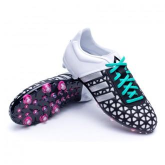Bota  adidas Jr Ace 15.1 FG/AG Core black-Matte silver-White