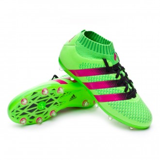 Chaussure  adidas Jr Ace 16+ Primeknit FG/AG Solar green-Shock pink-Core black