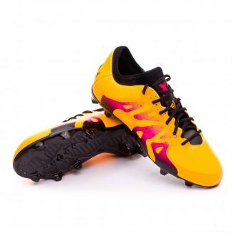 Bota  adidas Jr X 15.1 FG/AG Solar gold-Core black-Shock pink