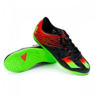 Zapatilla  adidas Jr Messi 15.4 IN Core black-Solar green-Solar red