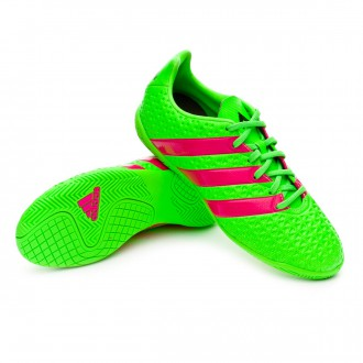Zapatilla  adidas Jr Ace 16.4 IN Solar green-Shock pink-Core black