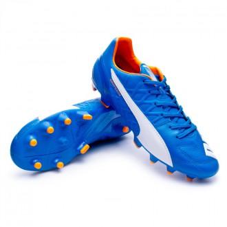 Boot  Puma Evospeed 3.4 Lth FG Electric blue lemonade-White-Orange clown