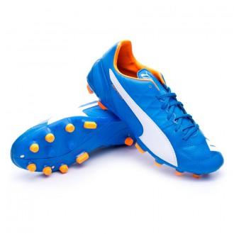Boot  Puma Evospeed 3.4 Lth AG Electric blue lemonade-White-Orange clown