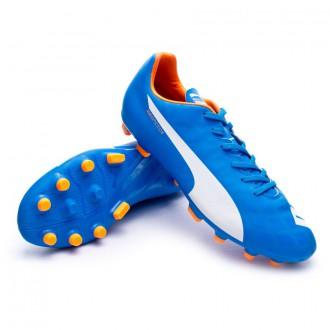 Bota  Puma Evospeed 5.4 AG Electric blue lemonade-White-Orange clown