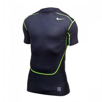 T-Shirt  Nike Pro Combat Hypercool 3.0 Compression Black-Volt