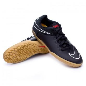 Zapatilla  Nike Jr HypervenomX Pro IC Black-White-Challenge red