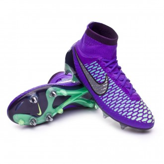 Chuteira  Nike Magista Obra ACC SG-Pro Hyper Grape-Metallic silver-Green glow