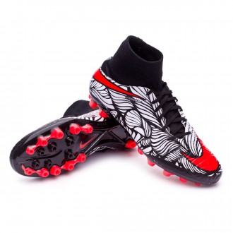 Chaussure  Nike Hypervenom Phatal II Dynamic Fit Neymar AG-R Black-Bright crimson-White