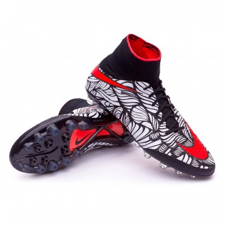 Boot  Nike Hypervenom Phantom II ACC Neymar AG-R Black-Bright crimson-White