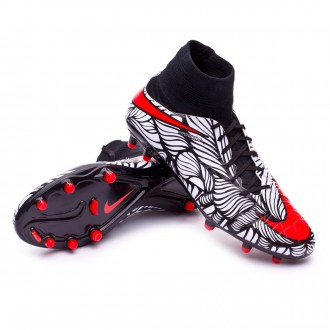 Bota  Nike Hypervenom Phatal II Dynamic Fit Neymar FG Black-Bright crimson-White
