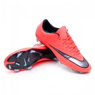 Chaussure  Nike Mercurial Vapor X ACC FG Bright mango-Metallic silver-Hyper turquoise