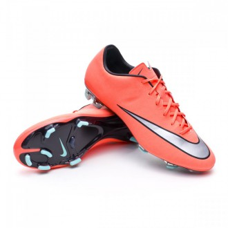 Chaussure  Nike Mercurial Veloce II FG Bright mango-Metallic silver-Hyper turquoise