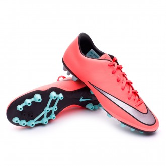 Chuteira  Nike Mercurial Victory V AG-R Bright mango-Metallic silver-Hyper turquoise