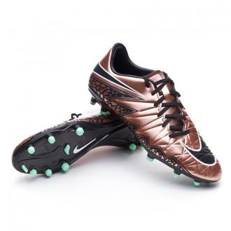 Bota  Nike Hypervenom Phelon II FG Metallic red-Black-Green glow-White