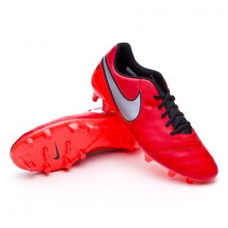 Chaussure  Nike Tiempo Genio II Piel FG Light crimson-Metallic silver