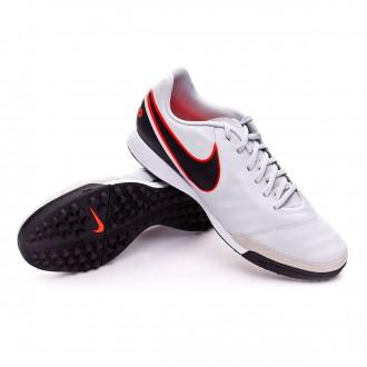 Bota  Nike Tiempo Genio II Piel Turf Pure platinum-Black-Metallic silver