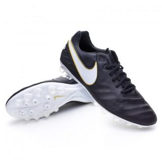 Chuteira  Nike Tiempo Legacy II AG-R Black-White-Metallic gold