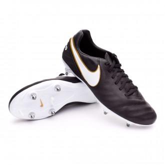 Chuteira  Nike Tiempo Mystic V SG Black-White-Metallic gold