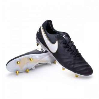 Chuteira  Nike Tiempo Legend 6 ACC SG-Pro Black-White-Metallic gold