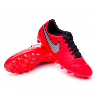 Bota  Nike Tiempo Genio II Piel AG-R Light crimson-Metallic silver